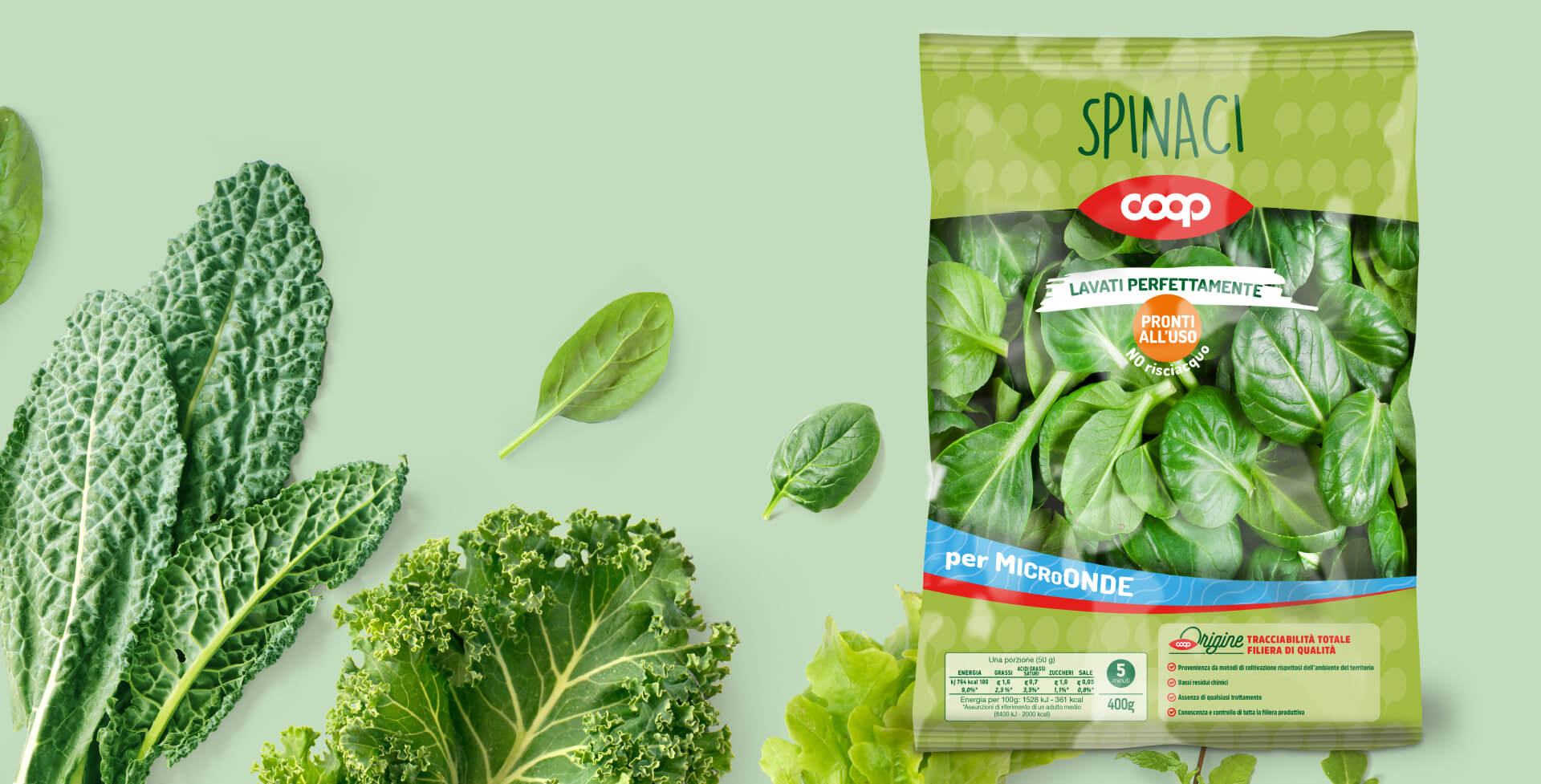Insalate Coop Italia packaging by Start